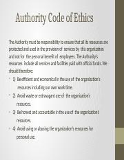 Authority code of ethics and  values.pptx