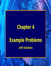 Chapter 4 EXAMPLES