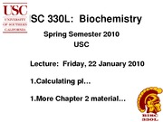 BISC 330 Spring 2010 Lecture 5