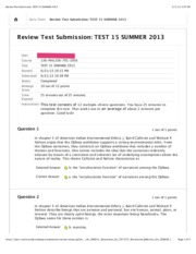 Review Test Submission TEST 15 SUMMER 2013