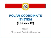 Lesson 12_Polar Coordinate System