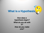 Writing a Good Hypothsis(1)