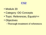 CS2_20_ReferencesEquals