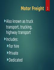 TL Motor Freight