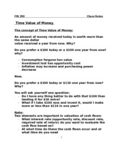 FIN250-Time Value of Money (1)