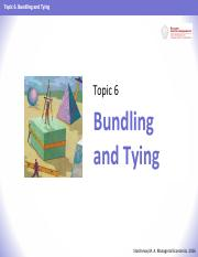 ME 2016 - Topic 06 - Bundling and Tying.pdf