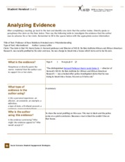 Analyzing Evidence (1) (AP9)