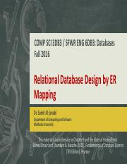 12 - Relational Database Design by ER Mapping.pdf
