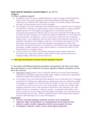 Chpter 6 Study Guide on Qualitative Research