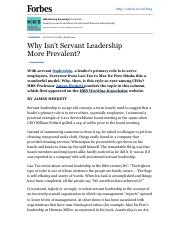 Why Isn't Servant Leadership More Prevalent - Forbes.pdf