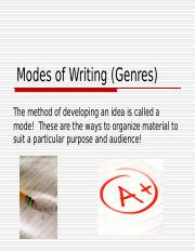 modes_of_writing_genres.ppt