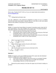 ECON 1745 Spring 2014 Problem Set Answers 2