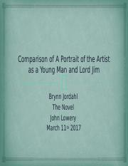 Comparison of A Portrait of the Artist as a Young Man and Lord Jim
