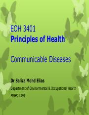EOH 3401 9 Communicable Disease