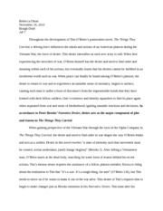 Rebecca Olson Narrative Desire Essay AP Lit