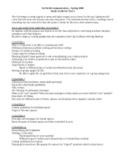 Test 1 - study guide (Spring '09)