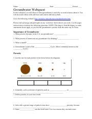 Ground water webquest - Name_Date_Period ...