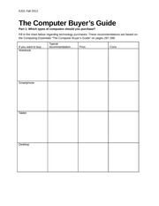 Review sheets Over Computer Buyers Guide