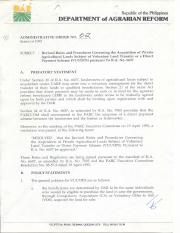 1995 AO 2 Revised Rules and Procedures Governing the Acquisition of Private Agricultural Lands Subje