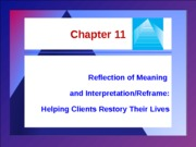 SW 3003 - Chapter 11 - Reflection of Meaning and Intepretation