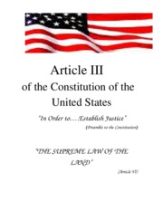 Article III of Constitution