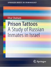 Prison tattoos - A study of Russian inmates in Israel
