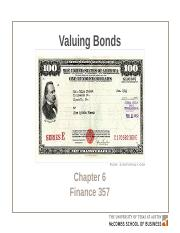 Chapter 6 Valuing Bonds