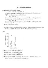 STATS 100 Fall 2012 Homework 3 Solutions