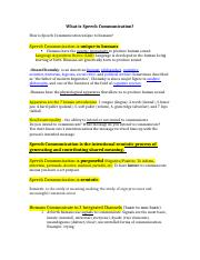 What is Speech Communication.docx