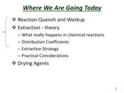 Slides for Separation by Extraction -- Lecture 3