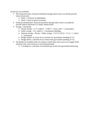 ECON 252 CH 8 NOTES