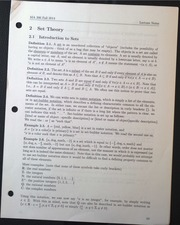 MA306 Set Theory - Introduction to Sets Lecture Notes