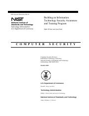 Building an IT Security Awareness program (NIST-SP800-50)