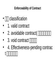 Unit six enforceablitiy of contracts 第6周 4.5