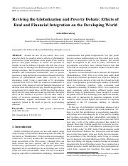 Effects of Real and Financial Integration on the Developing World