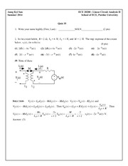 Quiz 35 Solution on Linear Circuit Analysis II