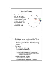 Radial forces