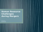 Human Resource Challenges during Mergers