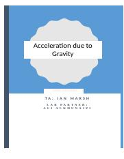 phy141 -SP17 -report 1- Acceleration due to Gravity.docx
