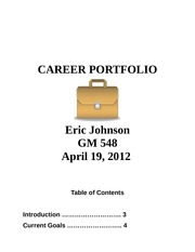 GM 548 CareerPortfolio