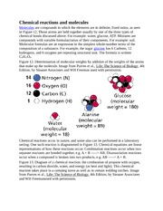 Chemical reactions and molecules