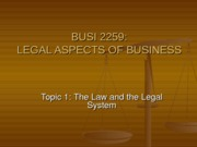 TOPIC_1_-_THE_LAW_AND_THE_LEGAL_SYSTEM