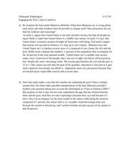class in america essay