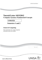 COS1521 Tutorial Letter 102_3_2012