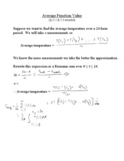 L9 - The Average Function Value Integral