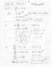 Math 38 Exam 1 Spring 2007 Solutions
