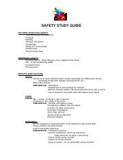 Safety Study Guide