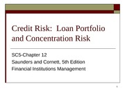 SC5-Chapter 12-Credit Risk-Loan Portfolio and Concentration Risk1