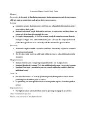 Economics Chapter 1 and 2 Study Guide.docx
