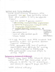 Welfare and Policy Feedback Notes